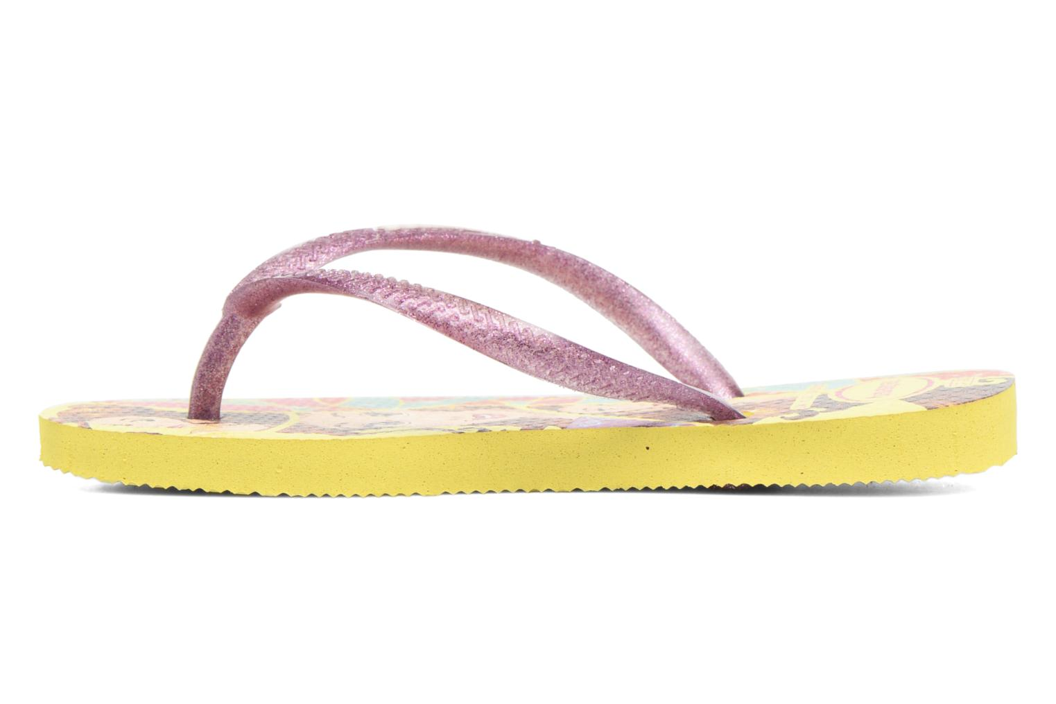 Tongs Havaianas Kids Slim Princess Jaune vue face