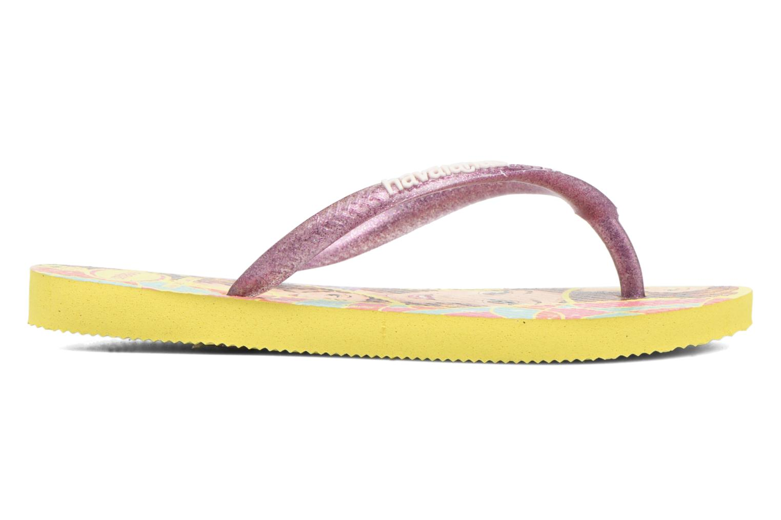 Tongs Havaianas Kids Slim Princess Jaune vue derrière
