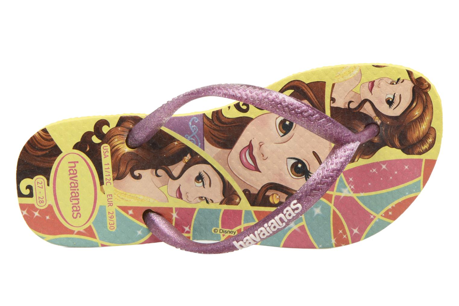 Tongs Havaianas Kids Slim Princess Jaune vue gauche