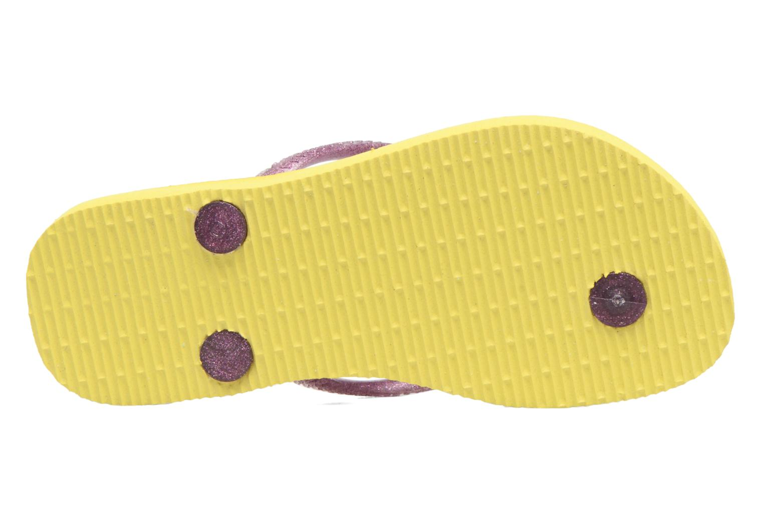 Chanclas Havaianas Kids Slim Princess Amarillo vista de arriba