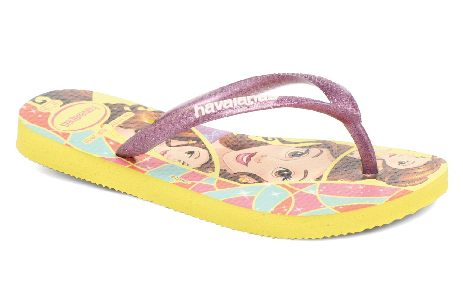 Chanclas Havaianas Kids Slim Princess Amarillo vista de detalle / par