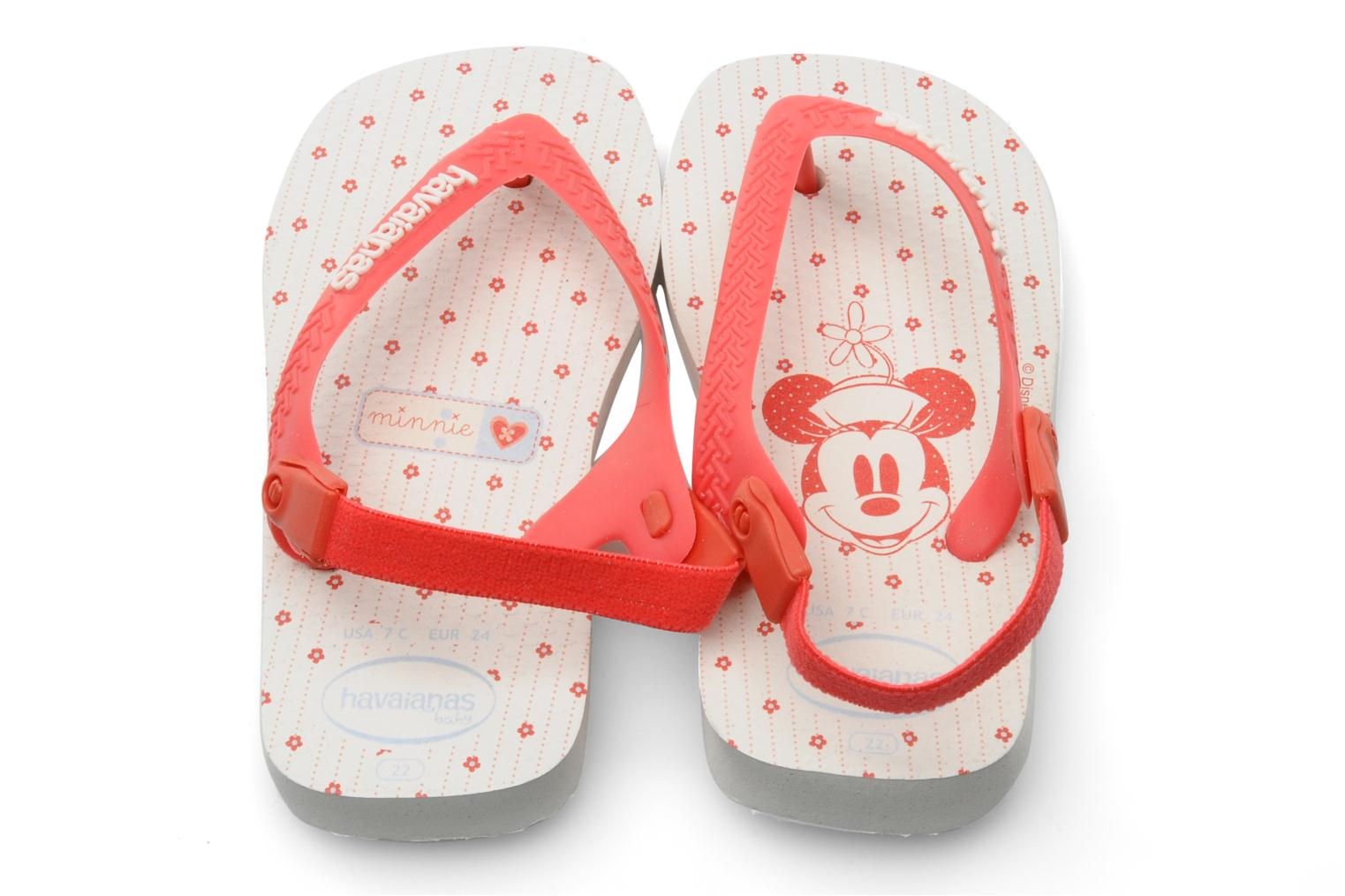 Tongs Havaianas Baby Mickey Minnie Rouge vue 3/4