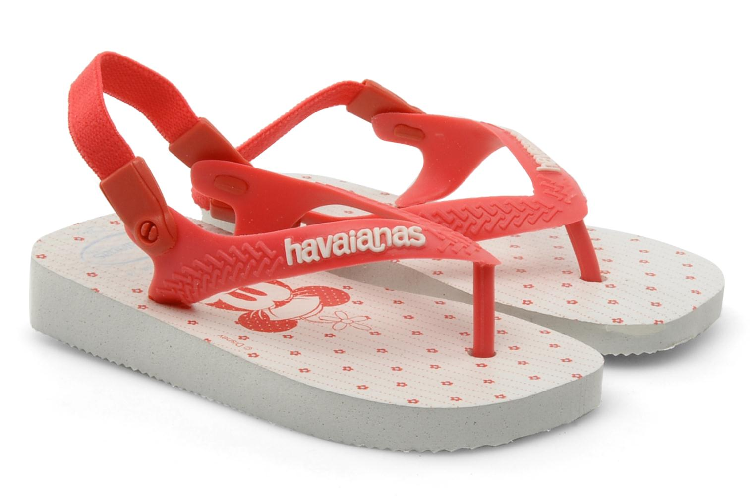 Tongs Havaianas Baby Mickey Minnie Rouge vue détail/paire
