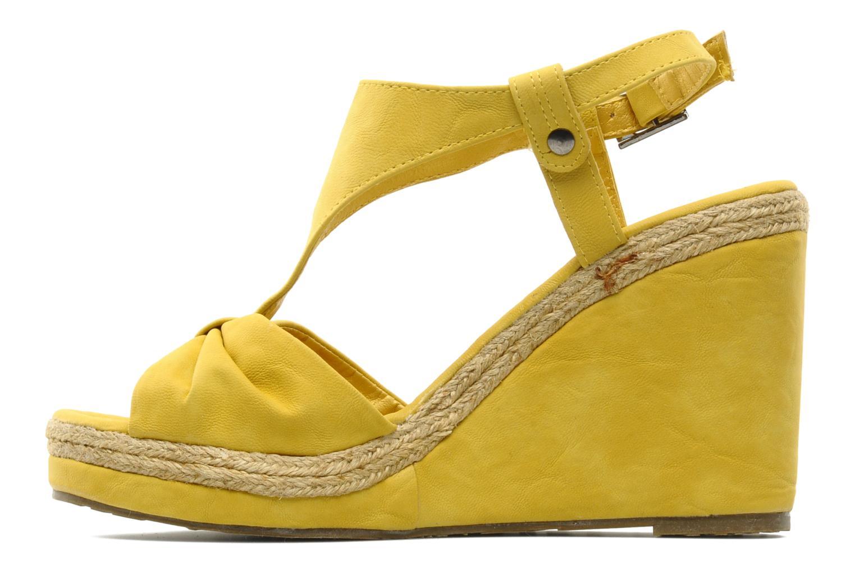 Sandales et nu-pieds Refresh Hikueru Jaune vue face