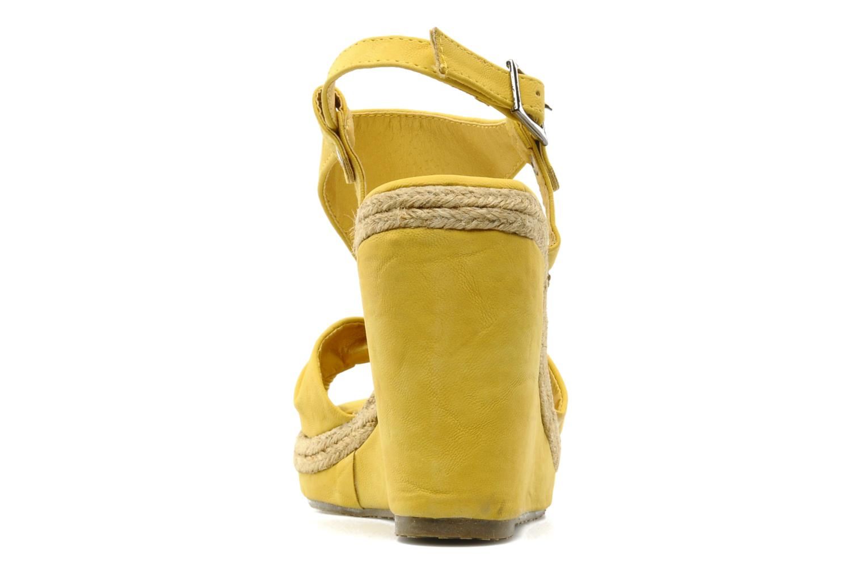 Sandales et nu-pieds Refresh Hikueru Jaune vue droite
