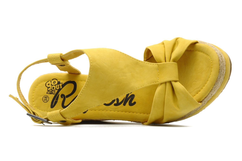 Sandales et nu-pieds Refresh Hikueru Jaune vue gauche