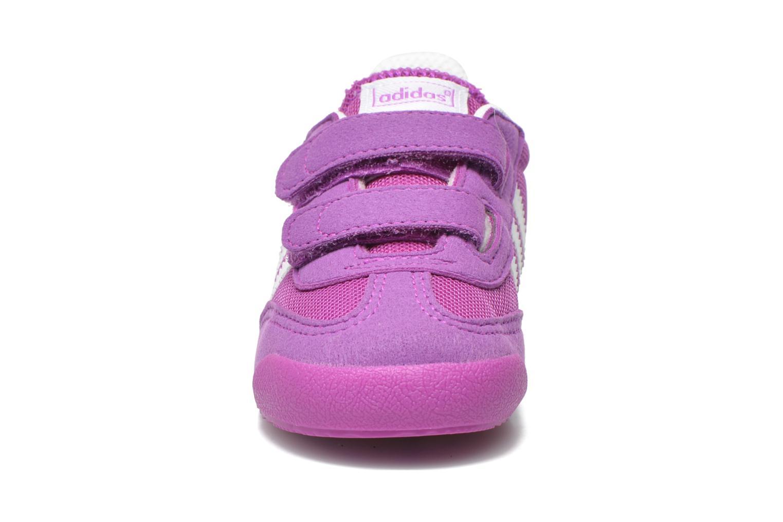 Baskets Adidas Originals Dragon CF I Violet vue portées chaussures