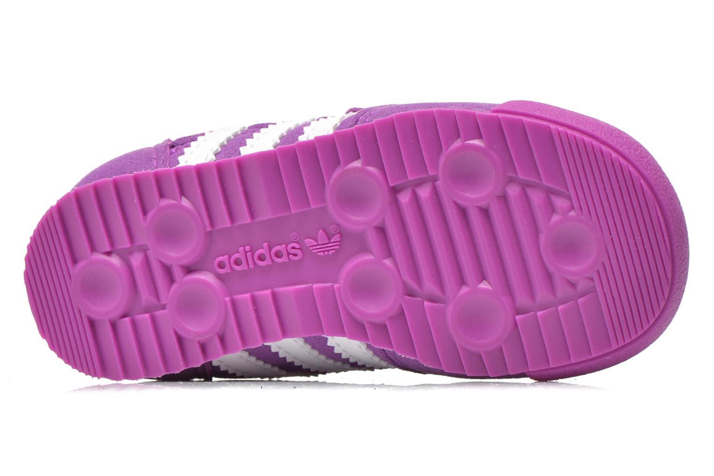 Baskets Adidas Originals Dragon CF I Violet vue haut