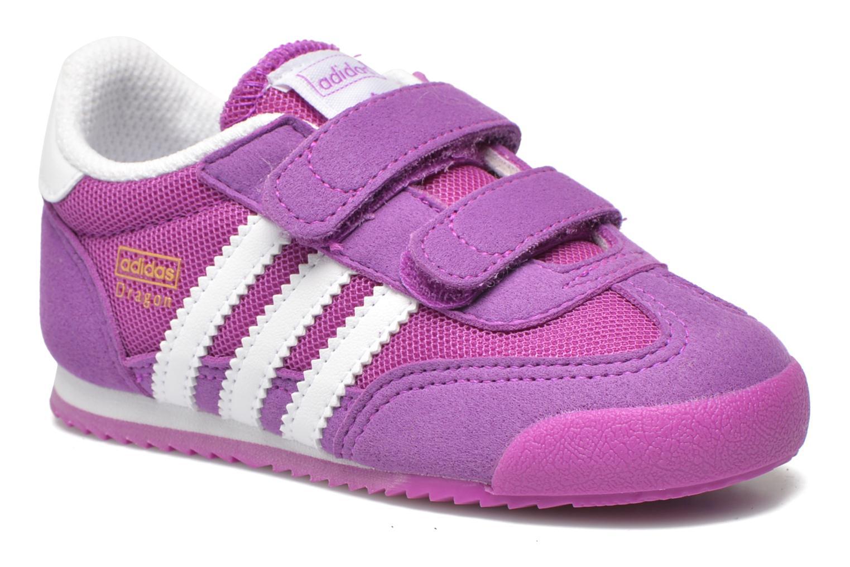 Baskets Adidas Originals Dragon CF I Violet vue détail/paire