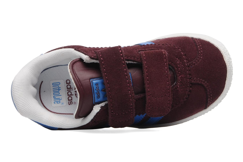 Baskets Adidas Originals Gazelle 2 CF I Bordeaux vue gauche
