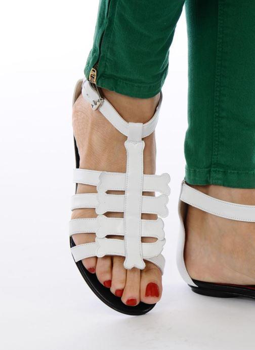 Sandales et nu-pieds Mellow Yellow Leskelet Blanc vue bas / vue portée sac