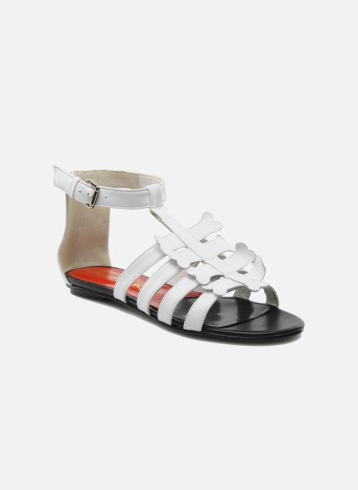 Sandales et nu-pieds Mellow Yellow Leskelet Blanc vue détail/paire