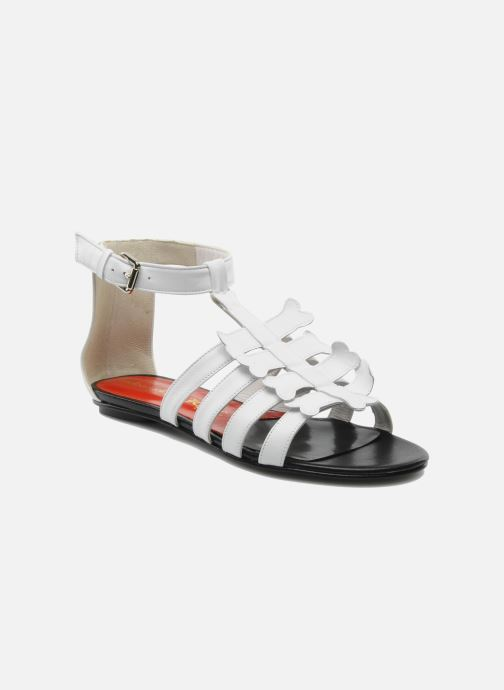 Sandals Mellow Yellow Leskelet White detailed view/ Pair view