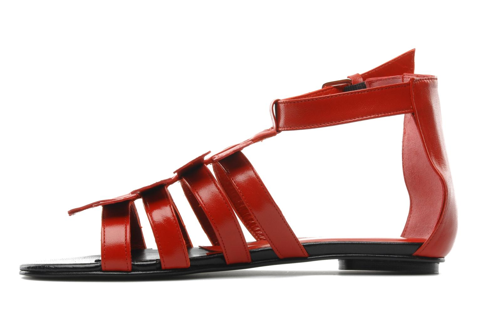 Sandals Mellow Yellow Leskelet Red front view