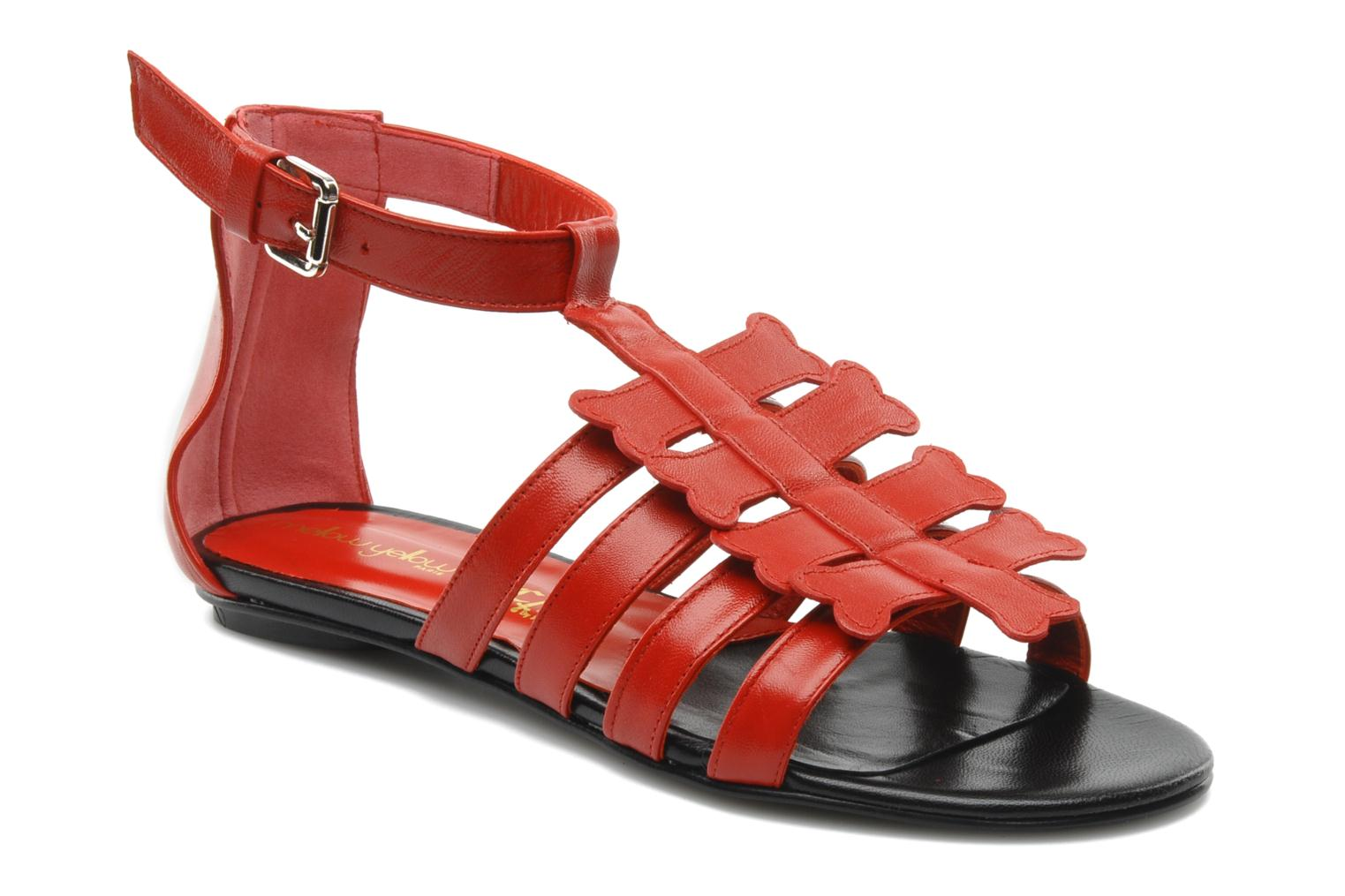 Sandals Mellow Yellow Leskelet Red detailed view/ Pair view