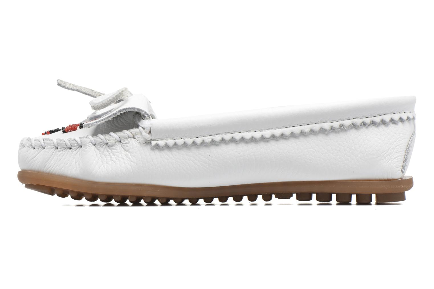 Loafers Minnetonka THUNDERBIRD 2 White front view