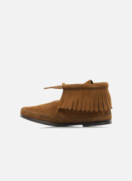 Bottines et boots Minnetonka CLASSIC FRINGE Marron vue face