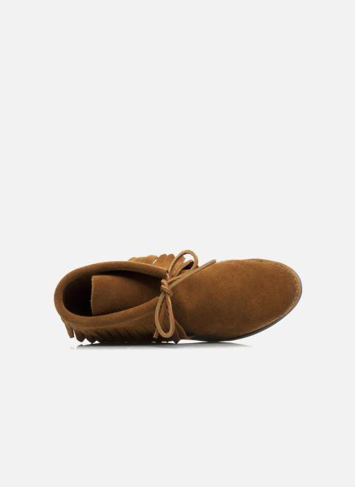 Boots en enkellaarsjes Minnetonka CLASSIC FRINGE Bruin links