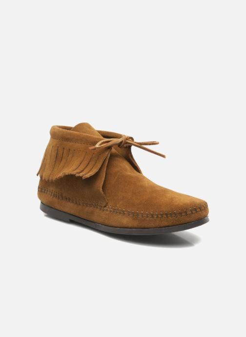 Boots en enkellaarsjes Minnetonka CLASSIC FRINGE Bruin detail