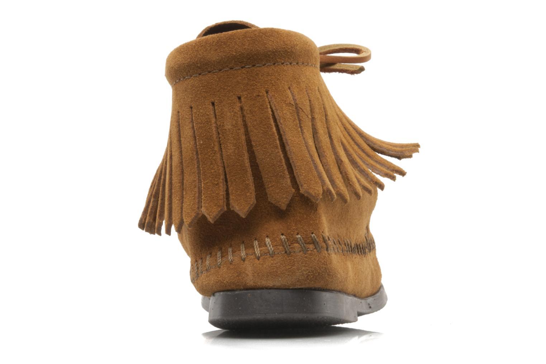 Bottines et boots Minnetonka CLASSIC FRINGE Marron vue droite