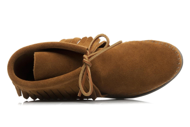 Bottines et boots Minnetonka CLASSIC FRINGE Marron vue gauche