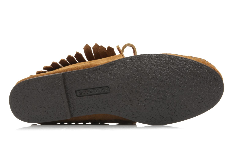 Bottines et boots Minnetonka CLASSIC FRINGE Marron vue haut