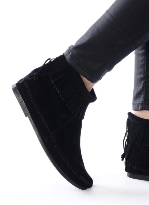Boots en enkellaarsjes Minnetonka BACK ZIPPER BT Zwart onder