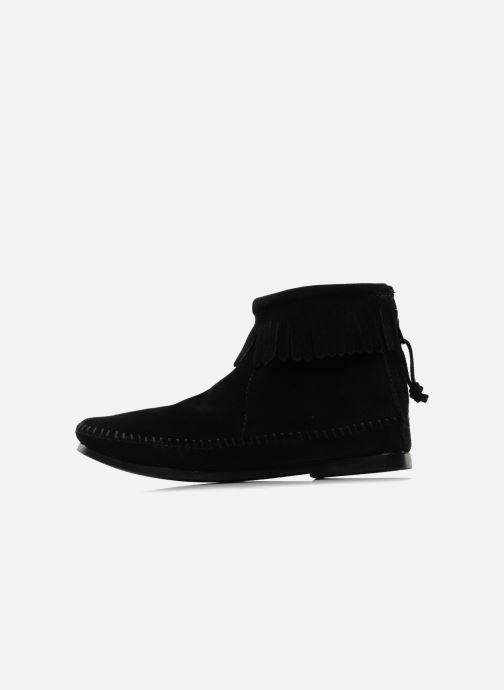 Boots en enkellaarsjes Minnetonka BACK ZIPPER BT Zwart voorkant
