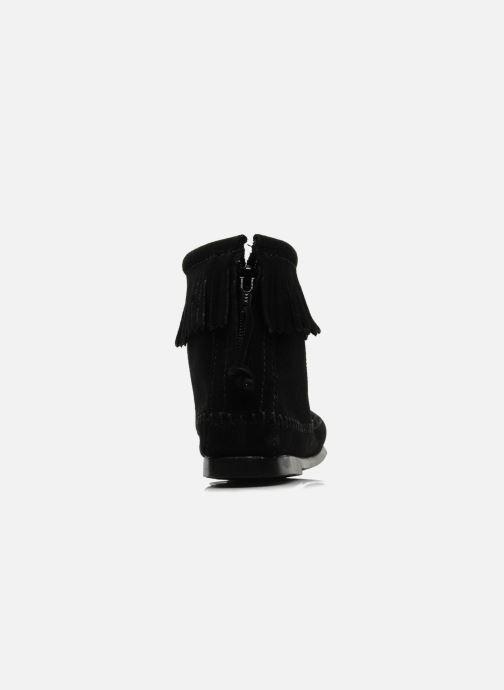 Boots en enkellaarsjes Minnetonka BACK ZIPPER BT Zwart rechts