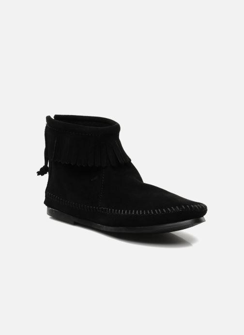 Boots en enkellaarsjes Minnetonka BACK ZIPPER BT Zwart detail