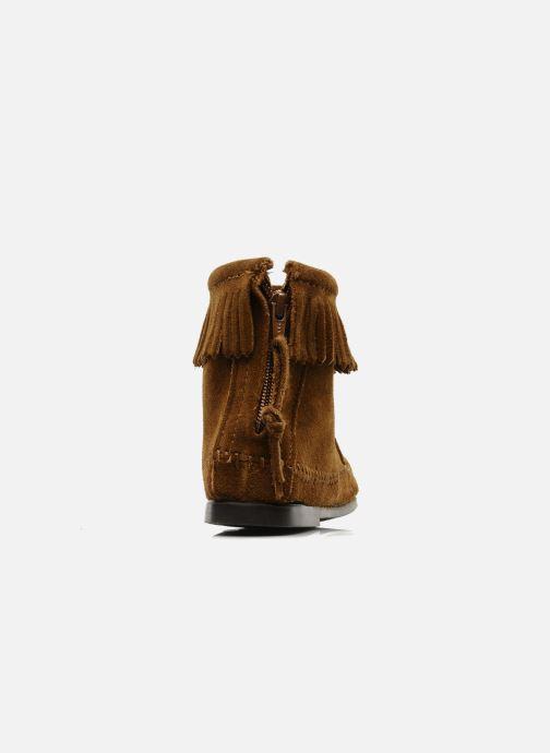 Bottines et boots Minnetonka BACK ZIPPER BT Marron vue droite