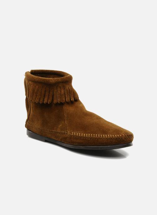 Bottines et boots Minnetonka BACK ZIPPER BT Marron vue détail/paire