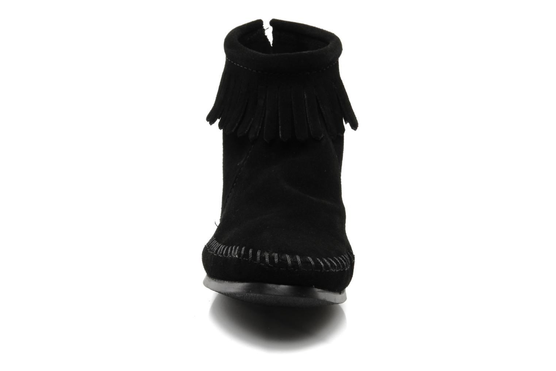 Ankle boots Minnetonka BACK ZIPPER BT Black model view