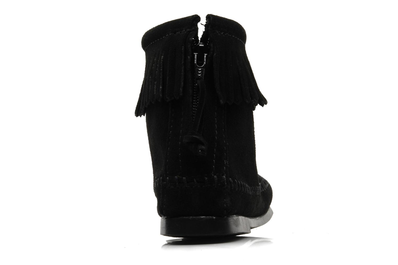 Ankle boots Minnetonka BACK ZIPPER BT Black view from the right
