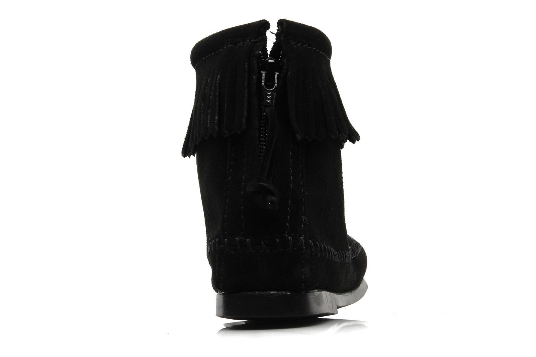 Bottines et boots Minnetonka BACK ZIPPER BT Noir vue droite