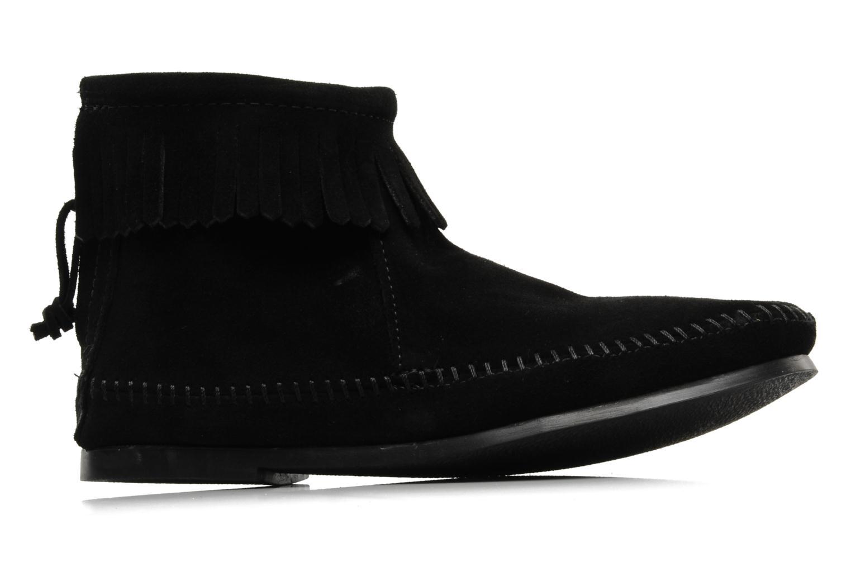 Boots en enkellaarsjes Minnetonka BACK ZIPPER BT Zwart achterkant
