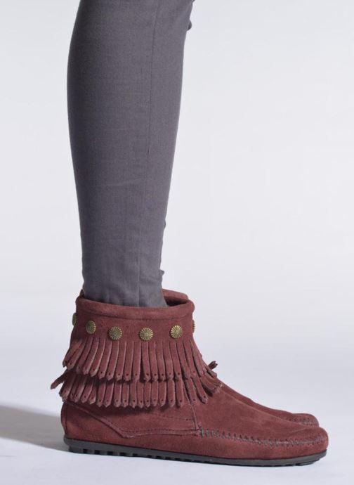 Stiefeletten & Boots Minnetonka DOUBLE FRINGE BT beige ansicht von unten / tasche getragen