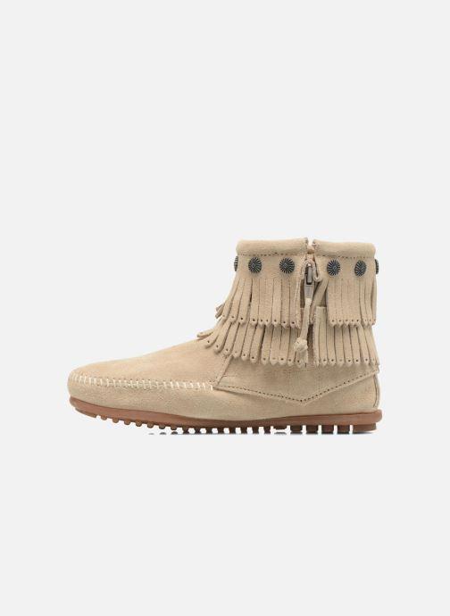 Stiefeletten & Boots Minnetonka DOUBLE FRINGE BT beige ansicht von vorne