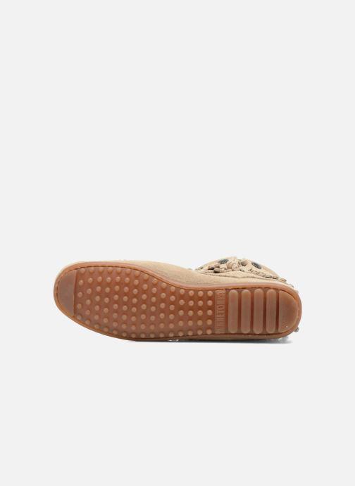Stiefeletten & Boots Minnetonka DOUBLE FRINGE BT beige ansicht von oben