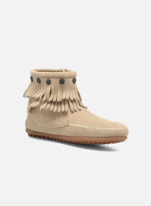 Stiefeletten & Boots Minnetonka DOUBLE FRINGE BT beige detaillierte ansicht/modell