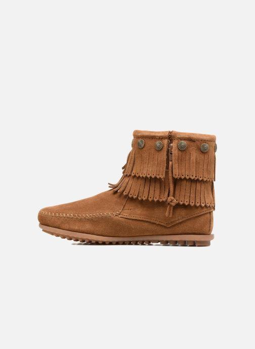 Boots en enkellaarsjes Minnetonka DOUBLE FRINGE BT Bruin voorkant