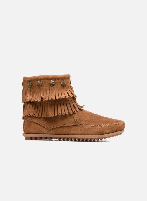 Boots en enkellaarsjes Minnetonka DOUBLE FRINGE BT Bruin achterkant