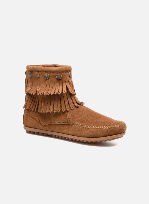 Boots en enkellaarsjes Minnetonka DOUBLE FRINGE BT Bruin detail
