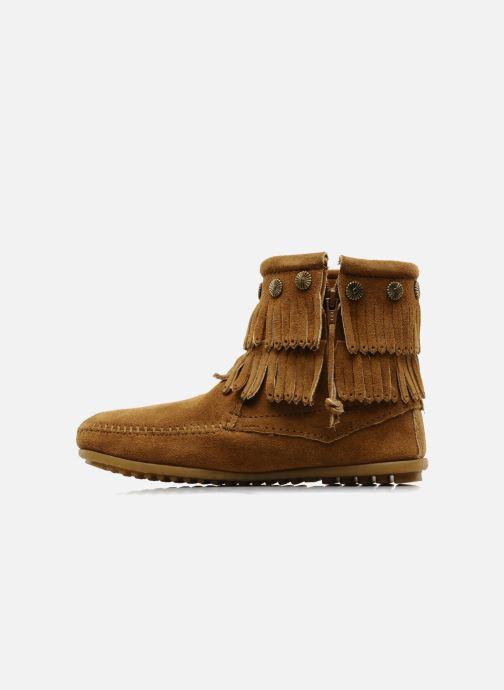Stiefeletten & Boots Minnetonka DOUBLE FRINGE BT braun ansicht von vorne