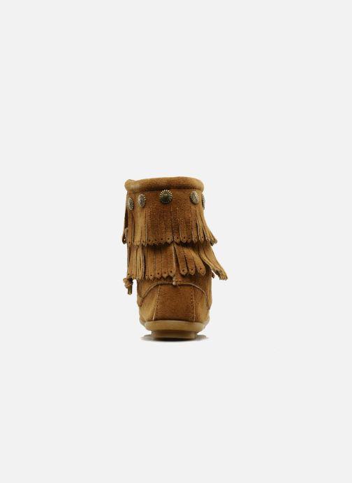 Diseños a granel Minnetonka DOUBLE FRINGE BT (Marrón) - Botines   Marrón (Taupe Suede) tYkXQ