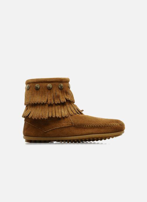 Stiefeletten & Boots Minnetonka DOUBLE FRINGE BT braun ansicht von hinten