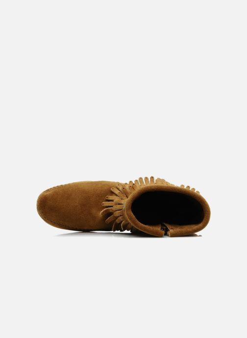 Stiefeletten & Boots Minnetonka DOUBLE FRINGE BT braun ansicht von links