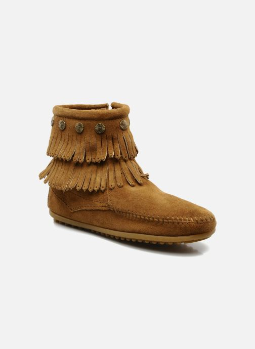 Bottines et boots Minnetonka DOUBLE FRINGE BT Marron vue détail/paire
