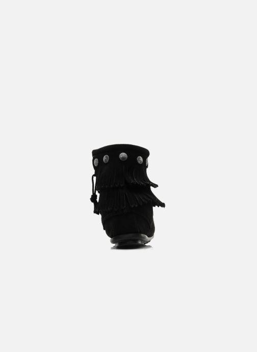 Bottines et boots Minnetonka DOUBLE FRINGE BT Noir vue droite