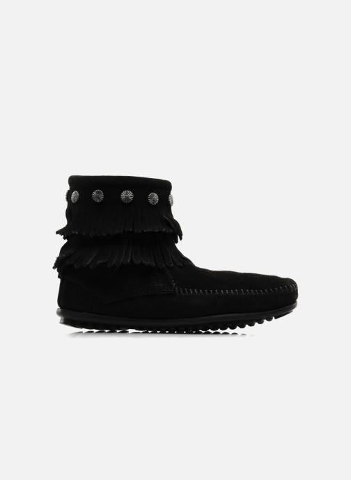 Bottines et boots Minnetonka DOUBLE FRINGE BT Noir vue derrière